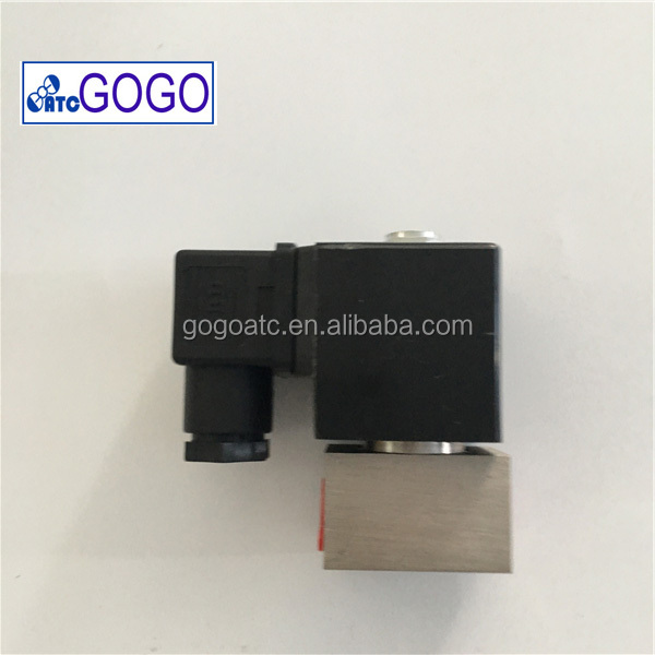200bar 1/2 stainless steel air or water high pressure solenoid valve