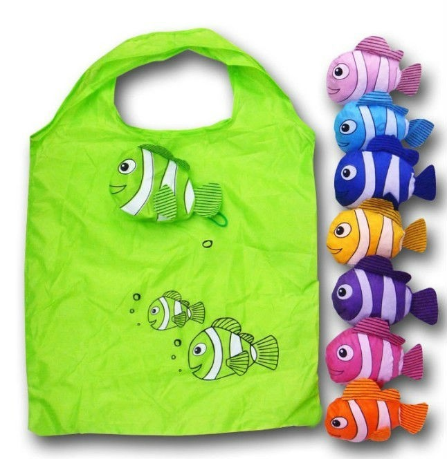 promotional fish foldable polyester bag