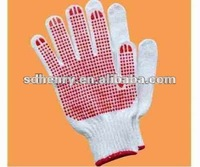 pvc dots coated cotton glove