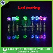 Hot Selling Colorful Square LED Light Up Earrings, Light Up Earrings For 2015 Event & Party/Promotional Gifts