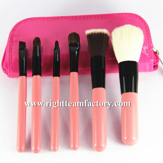 5pcs basic make up brushes with mirror
