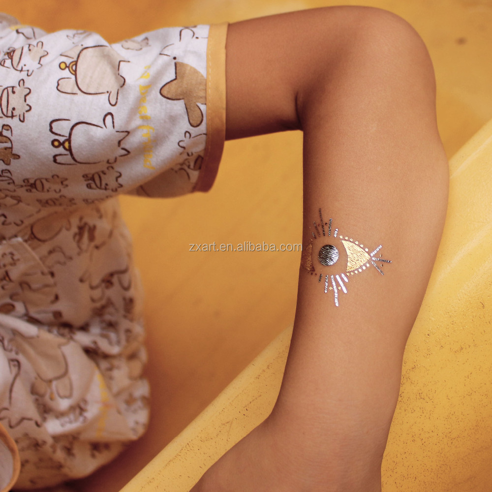Color King Tattoo Ink Jewellery Gold Temporary Tattoo