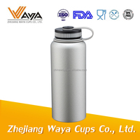 Double wall stainless steel drinking water bottle with matched lid