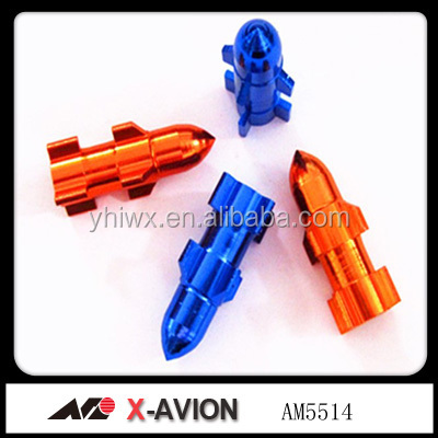 Aluminum colors car wheel tire valve caps extension