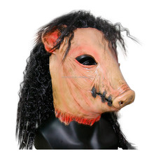 Adults Wild Boar Pig Head- Animal Fancy Dress Mask For Halloween Cosplay Props