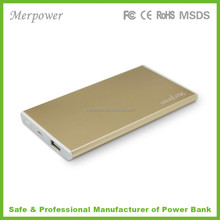2015 promotional Ultra slim aluminum case power bank 5000mAh for iPad, iPhone and smartphone