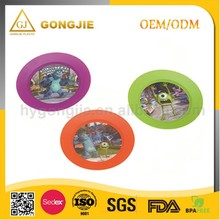 2017 promotional plastic round tray/plate/tableware