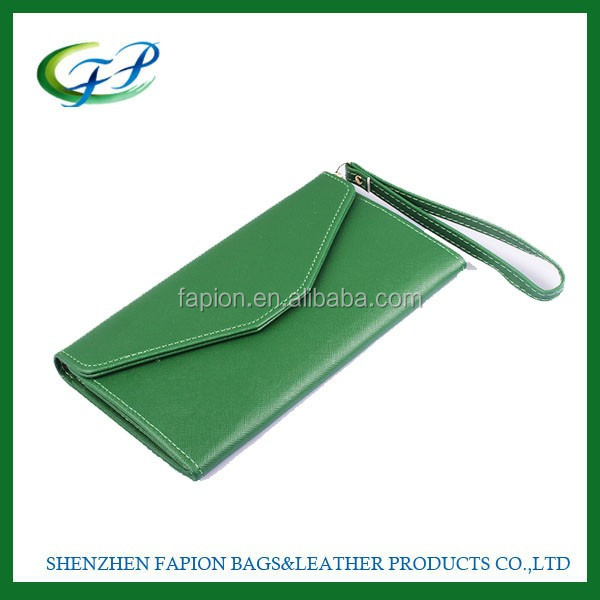 custom women wallet fashion ladies flat clutch wallets