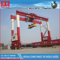 CE ISO Certificate China RTG Crane / Rubber Tire Container Gantry Cranes