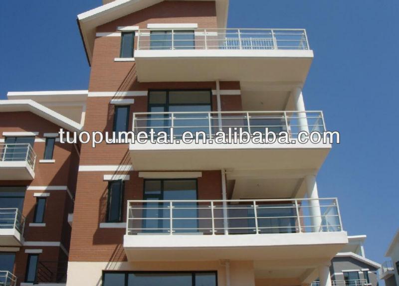 Balc n barandilla de acero inoxidable de dise o for Terrace boundary wall design