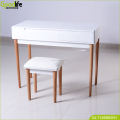 Luxury dressing table set with flip up mirror and stool