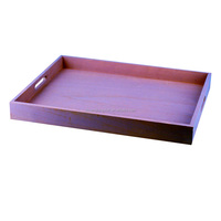 Customized stained color wood gift packaging trays,wood serving tray