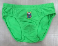 Different color kids solid cotton spandex boys bikini briefs