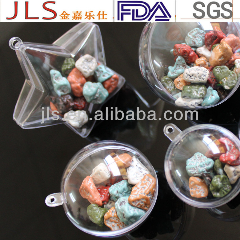 Dia60mm fashion clear plastic candy containers