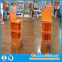 Floor Stand Display Clear Plastic Display Stand Corrugated Pop Up Cardboard Display Stand