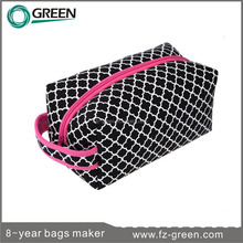 pure waterproof coated cosmetic bag with mirror