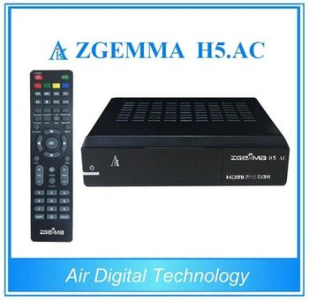 American Channels ZGEMMA H5.AC Dual Core Linux OS Enigma2 FTA Satellite Receiver HEVC/H.265 DVB-S2+ATSC Combo Tuner
