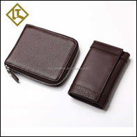 China Leather Goods Manufacturer men credit card organizer wallet to import