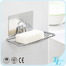 Durable wall mounted magic bathroom shelf cast iron soap dish