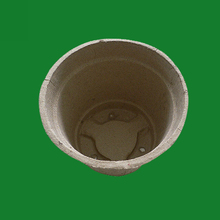 Recycled paper pulp molded biodegradable seedling pot,nursery pot