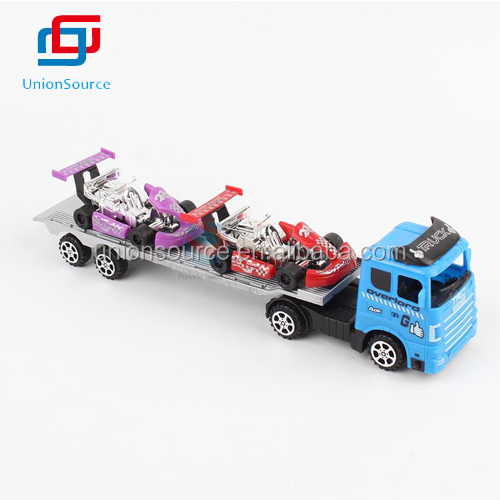 Kids Toys Inertia Trail Car with Racing Car