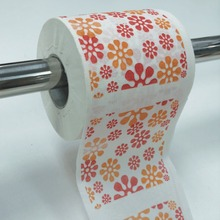 Lovely Flower Pattern Printed Toilet Paper