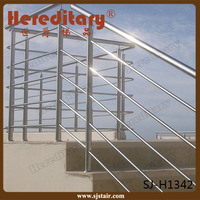 exterior 304 stainless steel pipe railing handrail for stair