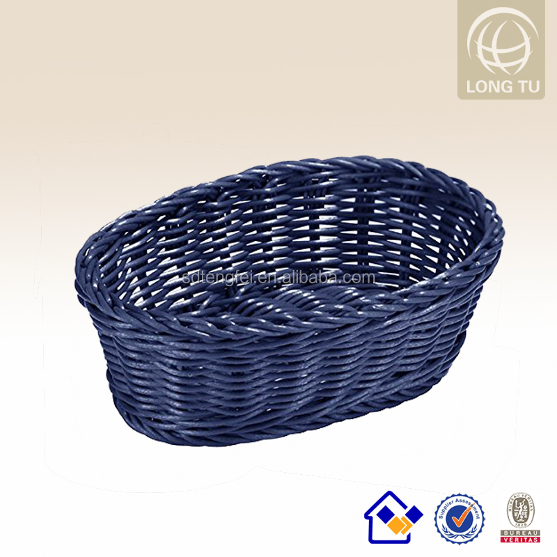 Graceful Washable PP rattan oval bread basket