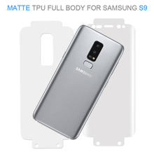 Factory direct anti fingerprint screen saver full cover matte screen protector for samsung s9 s9plus