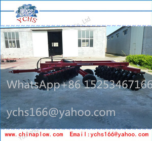 Agricultural tractor trailed hydraulic heavy duty disc harrow