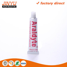 ROHS Certification quick and strong aluminum tube adhesive low water absorption epoxy glue