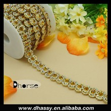 Bling Bling Decorative Rhinestone Empty Cup Chain For Garment DH-RE2121