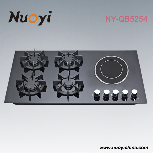 New arrival ! Built-in 5 burner <strong>Gas</strong> & Electric cooktop with tempered glass top