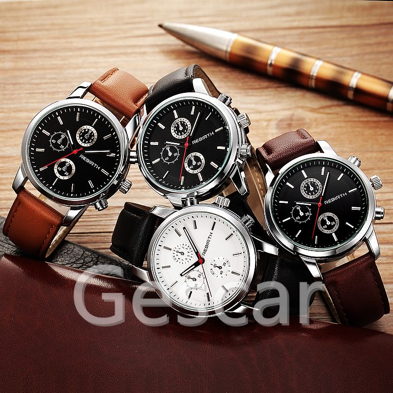 Rebirth RE016 hot sale high quality leather belt wrap quartz casual watch for man women