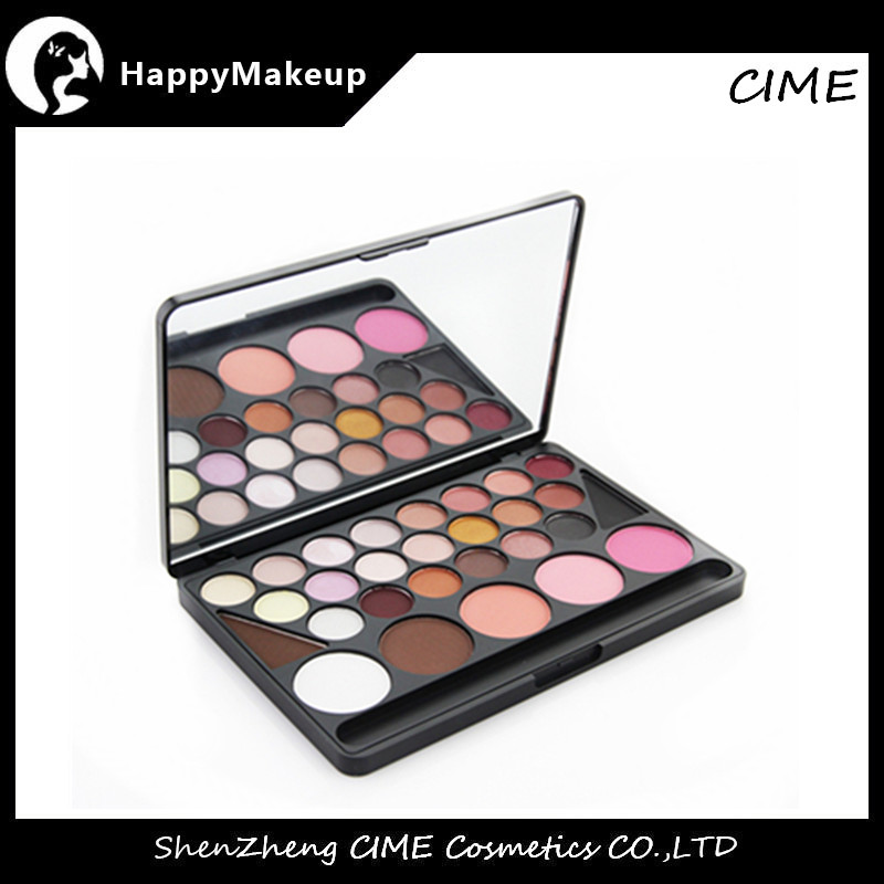 naras 28 Color makeup eyeshadow and blush palette with mirror