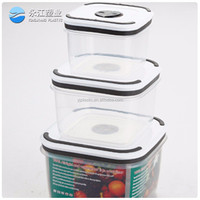 wholesale airtight lunch box glass container high quality airtight fresh plastic food container storage box / plastic lunch box