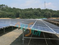Solar Panel Mounting System for Plant Ground