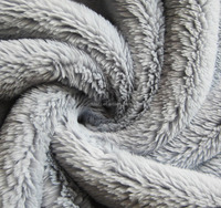 grey color soft knit fleece fabric for coat's lining/interlining
