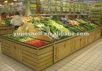 Fashionble Wooden fruits and vegetable display ,fruit vegetable display rack