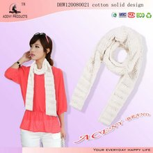 Cotton Knitted Pattern Scarf