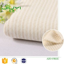 wholesale light green yarn dyed stripe recycled cotton knit heavy jacquard cotton fabric