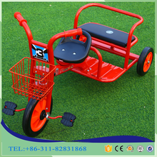 2017 Factory wholesale small kids double seat children tricycle two seats baby tricycle kids push