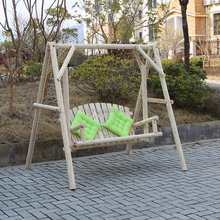 Outdoor Wooden Garden Log Swing For Adults