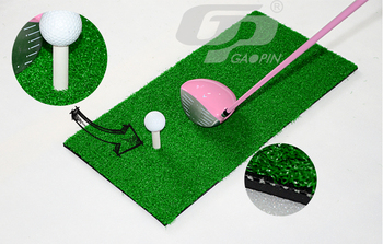 Hot Sale Golf Nylon Grass Hitting Mats Golf Practice Mat Indoor Mini Mats