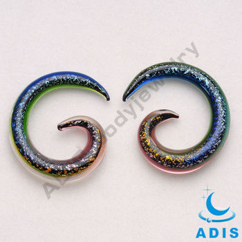 glass spiral piercing ear,stretchers expander earrings
