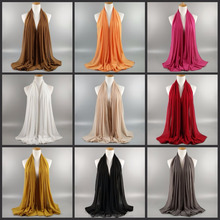 2018 ready stock Solid 77 Colors Thick Long Scarves Beach cover up chiffon scarf 180*75cm