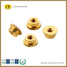 China Manufacturer High Precision Machining Parts Knurled Brass Nut for Laptop and Mobile Phone Accessories & Spare Parts