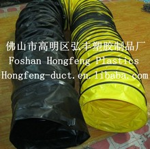 low friction loss pvc floor duct spiral flexible insulated duct/pvc dryer flexible duct