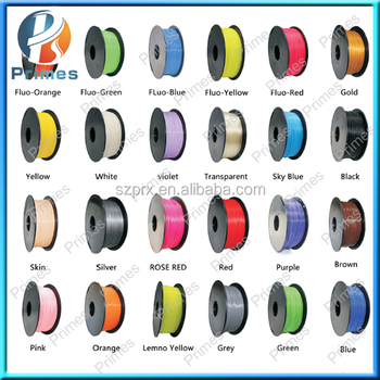 2016 Primes 1.75mm/3.0mm 3d filament 1KG with best quality cheaper price