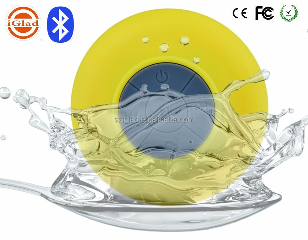 2016 portable Waterproof mini 2.1 perfect sound Bluetooth Speaker with Suction Cup